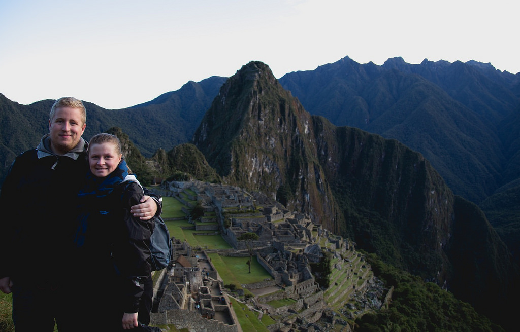 Anders og Laura ved Machu Picchu