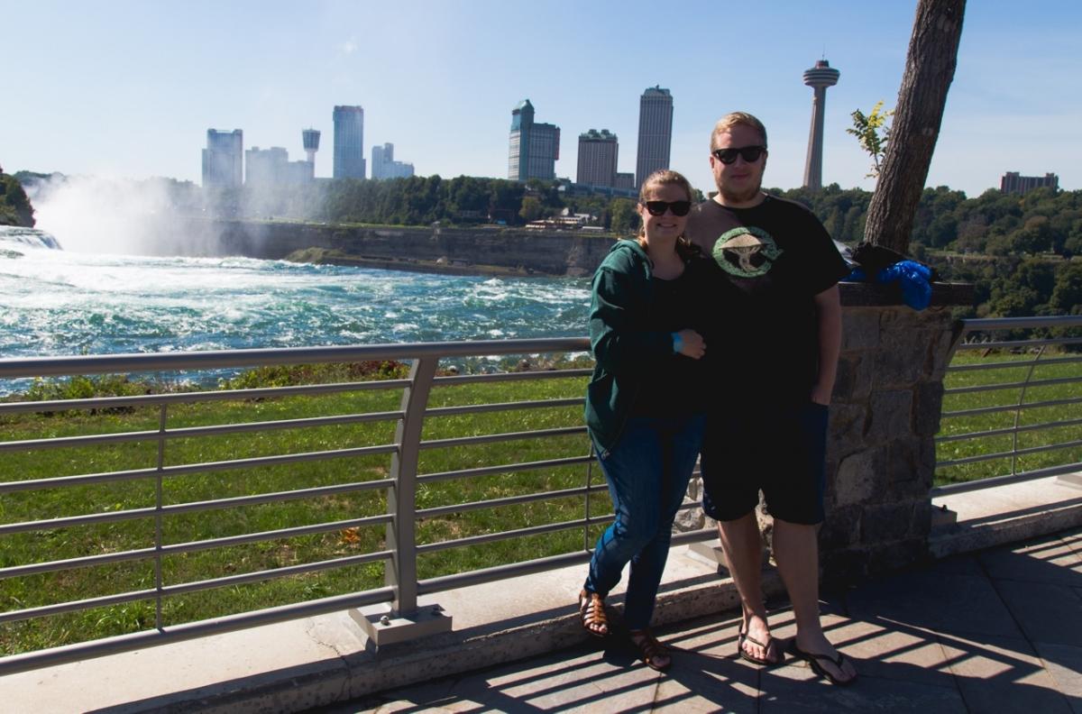 Anders og Laura ved Niagara Falls