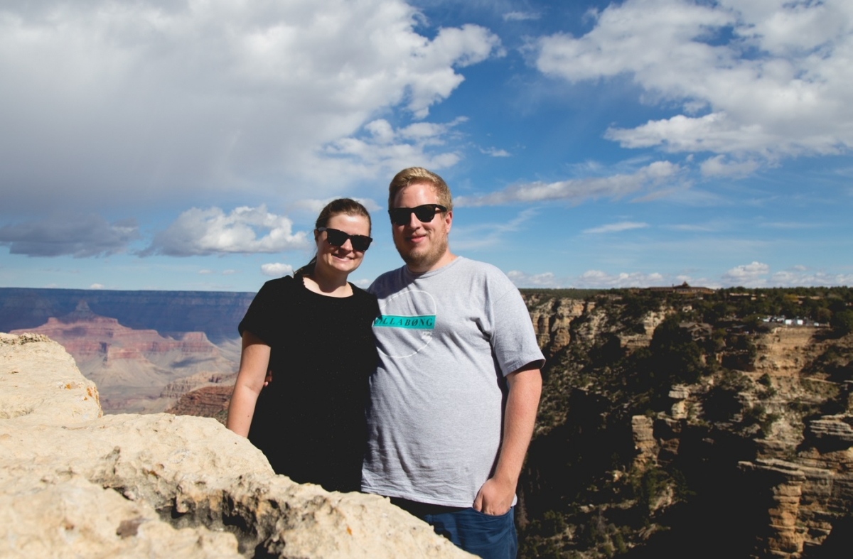 Anders og Laura ved Grand Canyon2
