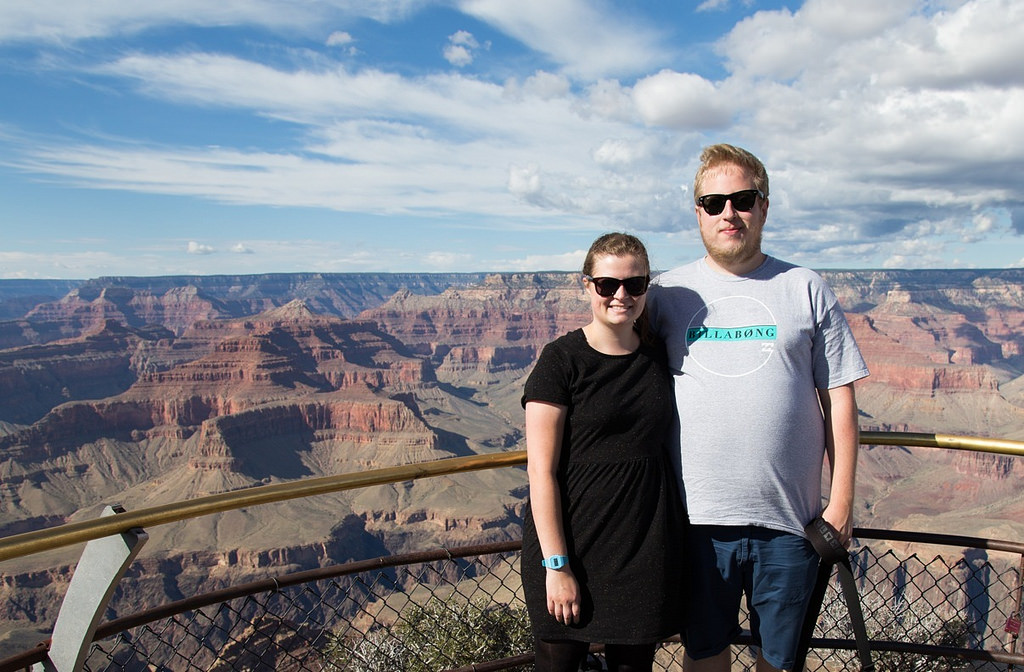Anders og Laura ved Grand Canyon1